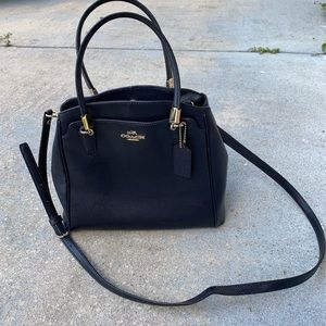Coach navy blue crossbody bag. Removable strap